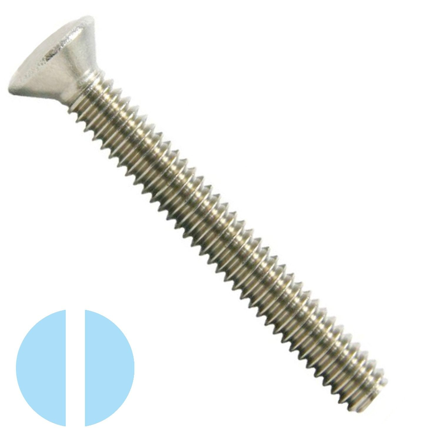 "#10-32 x 1"" Stainless Steel Slotted Oval Head Machine Screw 18-8"