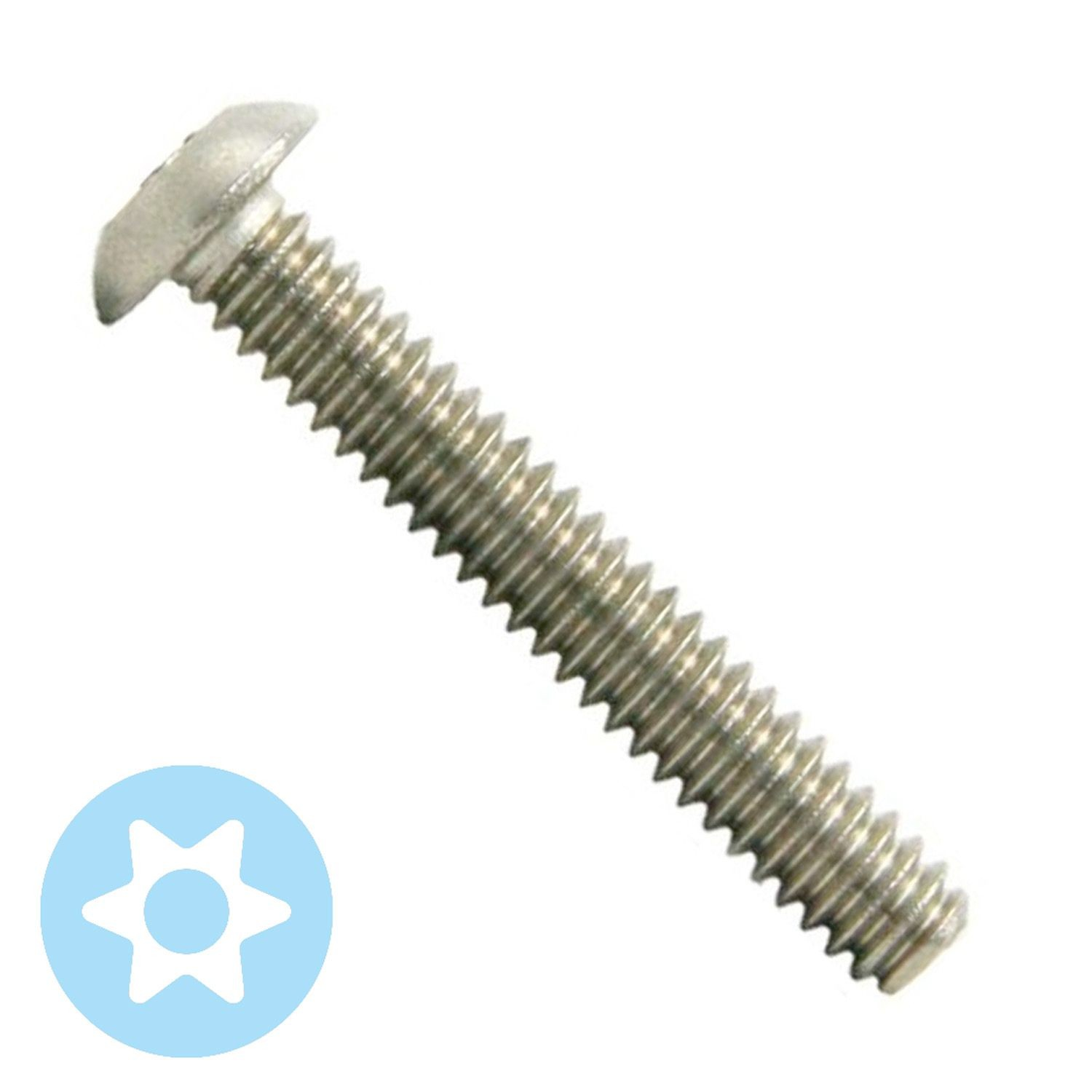 "#10-32 x 1-1/4"" Stainless Steel Torx Button Head Machine Screw"