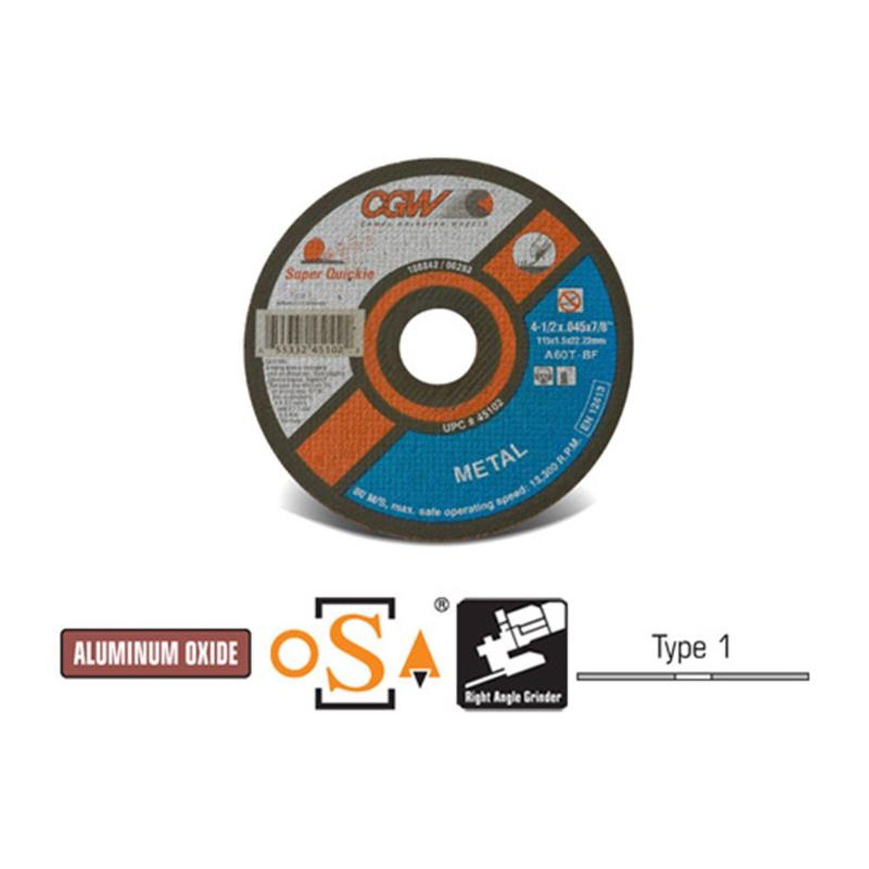 6 X .045 X 7//8 Reinforced Fast Cut Off Wheels Box of 25 Quickie Cut