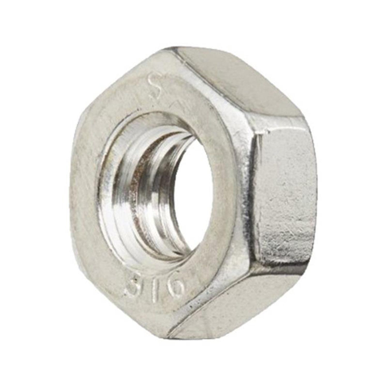 #10-32 Stainless Steel Machine Screw Nut 316