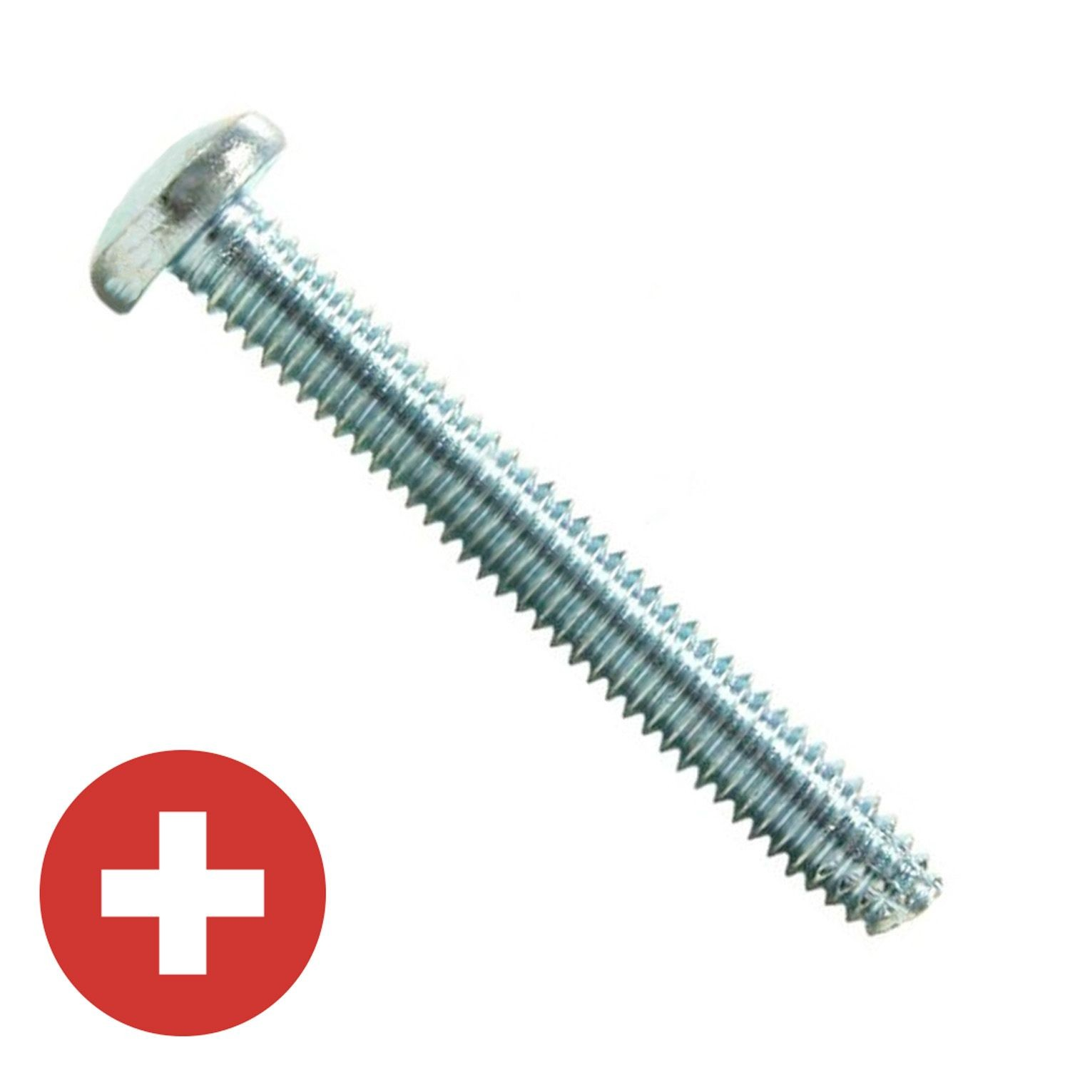 "#10-24 x 3/4"" Zinc Plated Phillips Pan Head Thread Cutting Screw Type F"