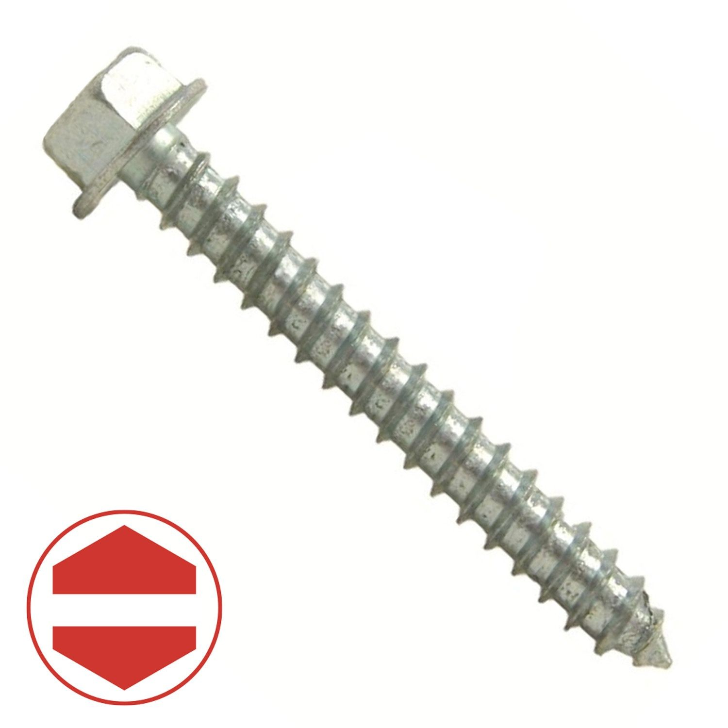 "#10 x 5/8"" Zinc Plated Hex Washer Head Sheet Metal Screw"