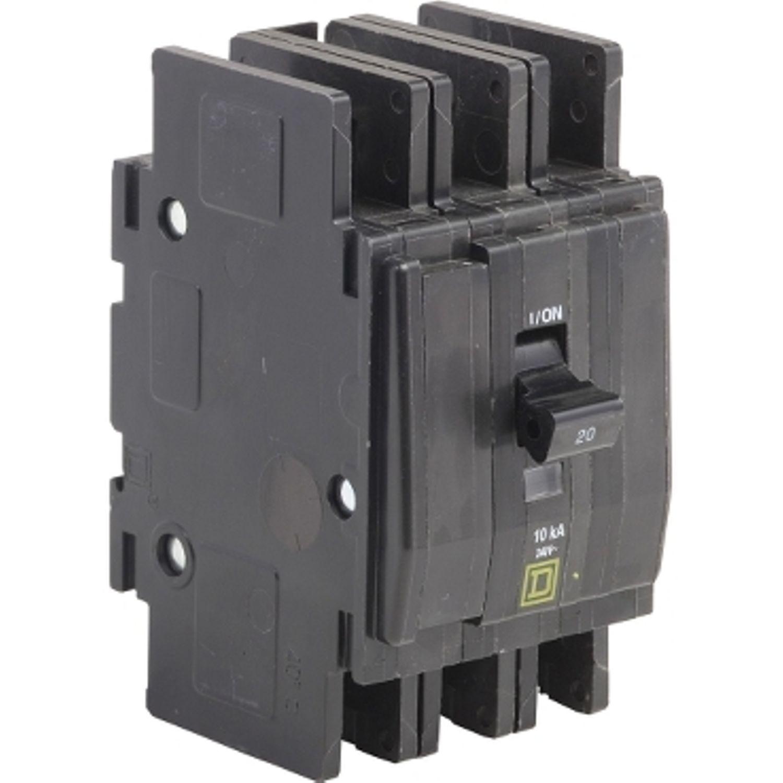 SQD QOU3305283 Miniature Circuit Breaker; 240Volt, 30Amp, 3-Pole ...