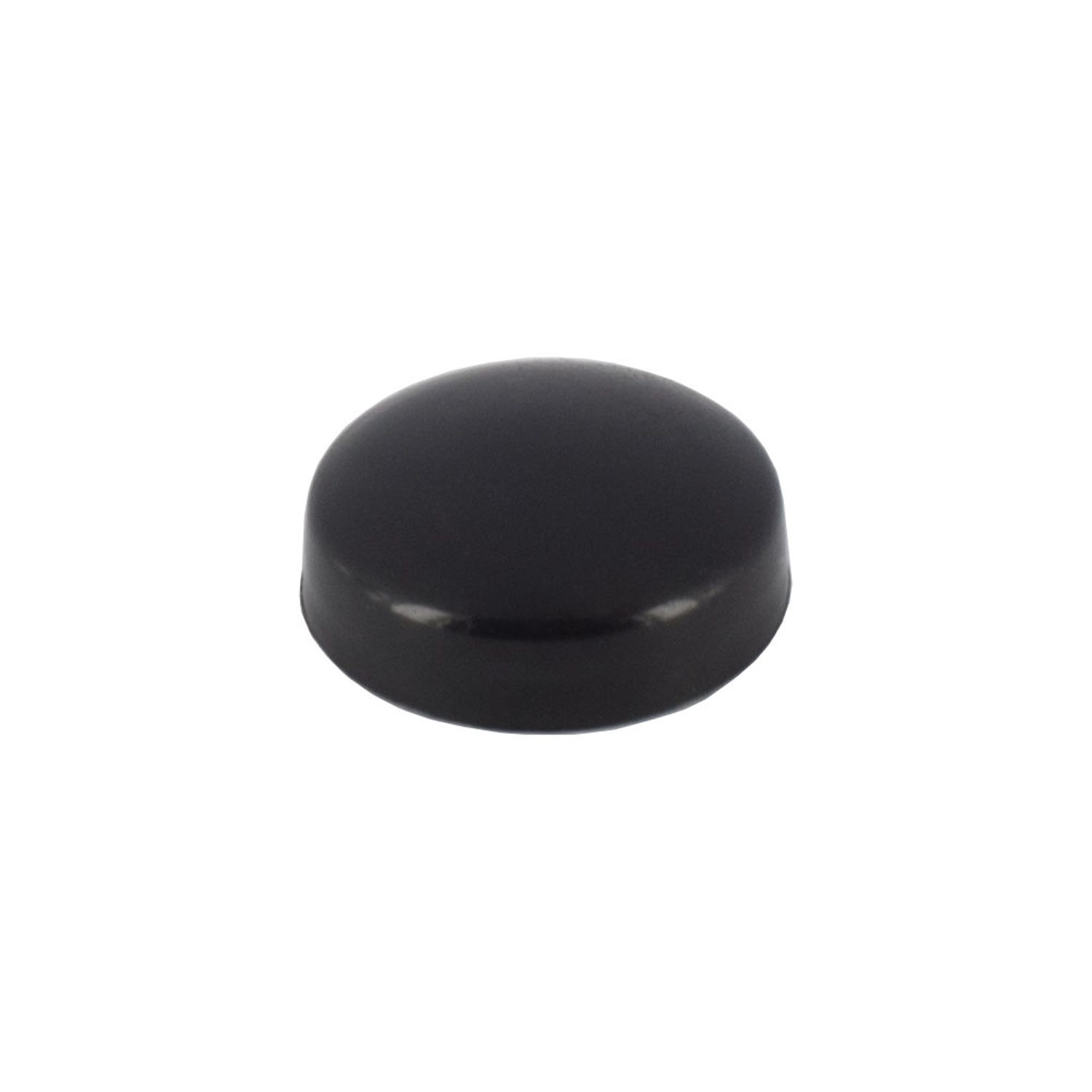 ".515"" Diameter Black Polypropylene Pop-On Scew Cover"