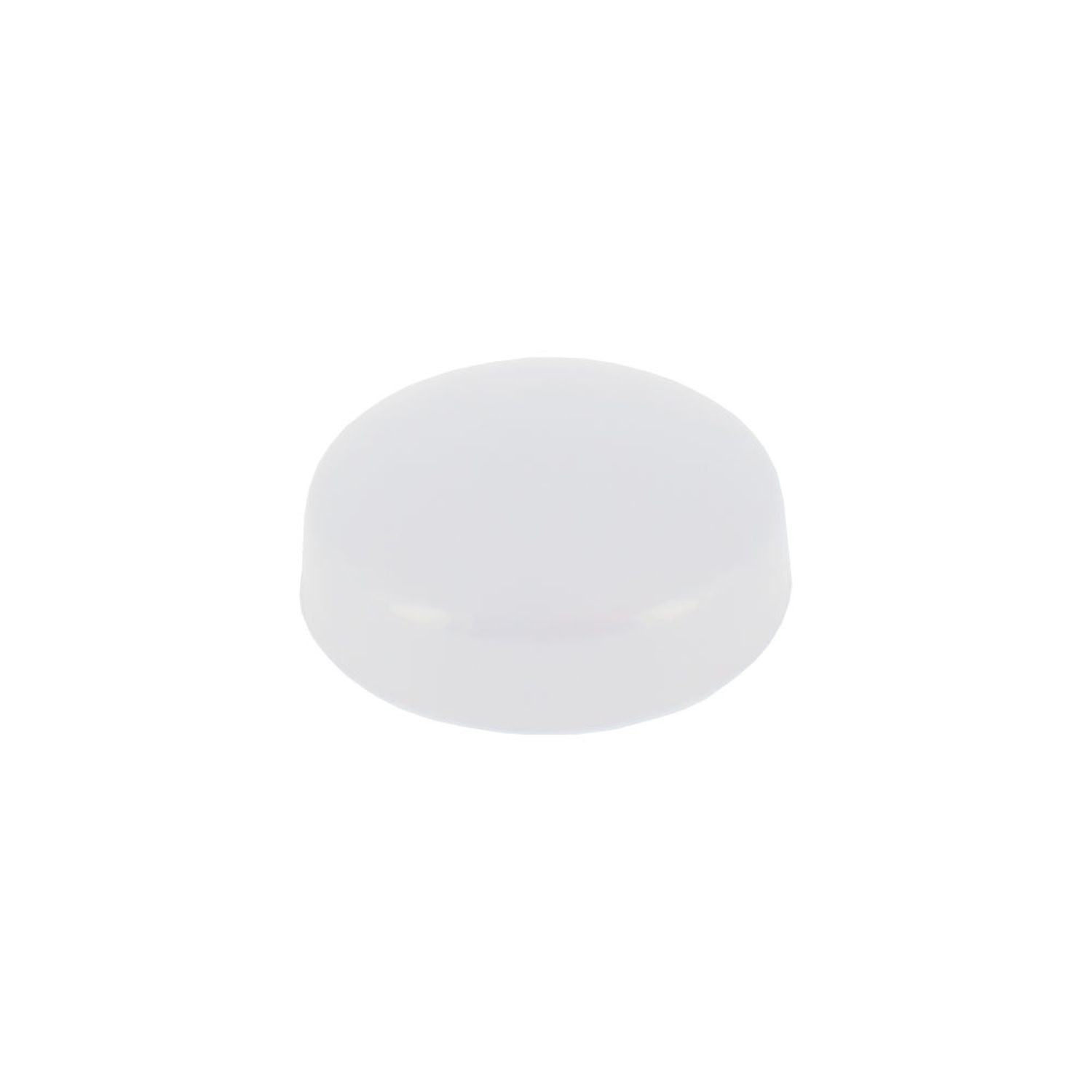 ".700"" Diameter White Polypropylene Pop-On Scew Cover"