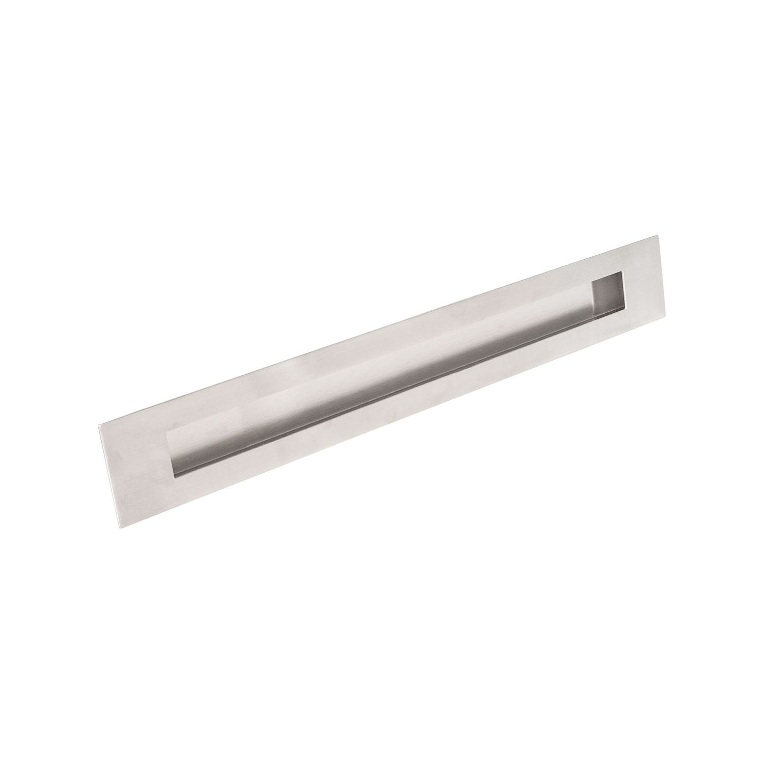 "1 15/16"" X 15 3/4"" Brushed Stainless Recessed Door Pull"