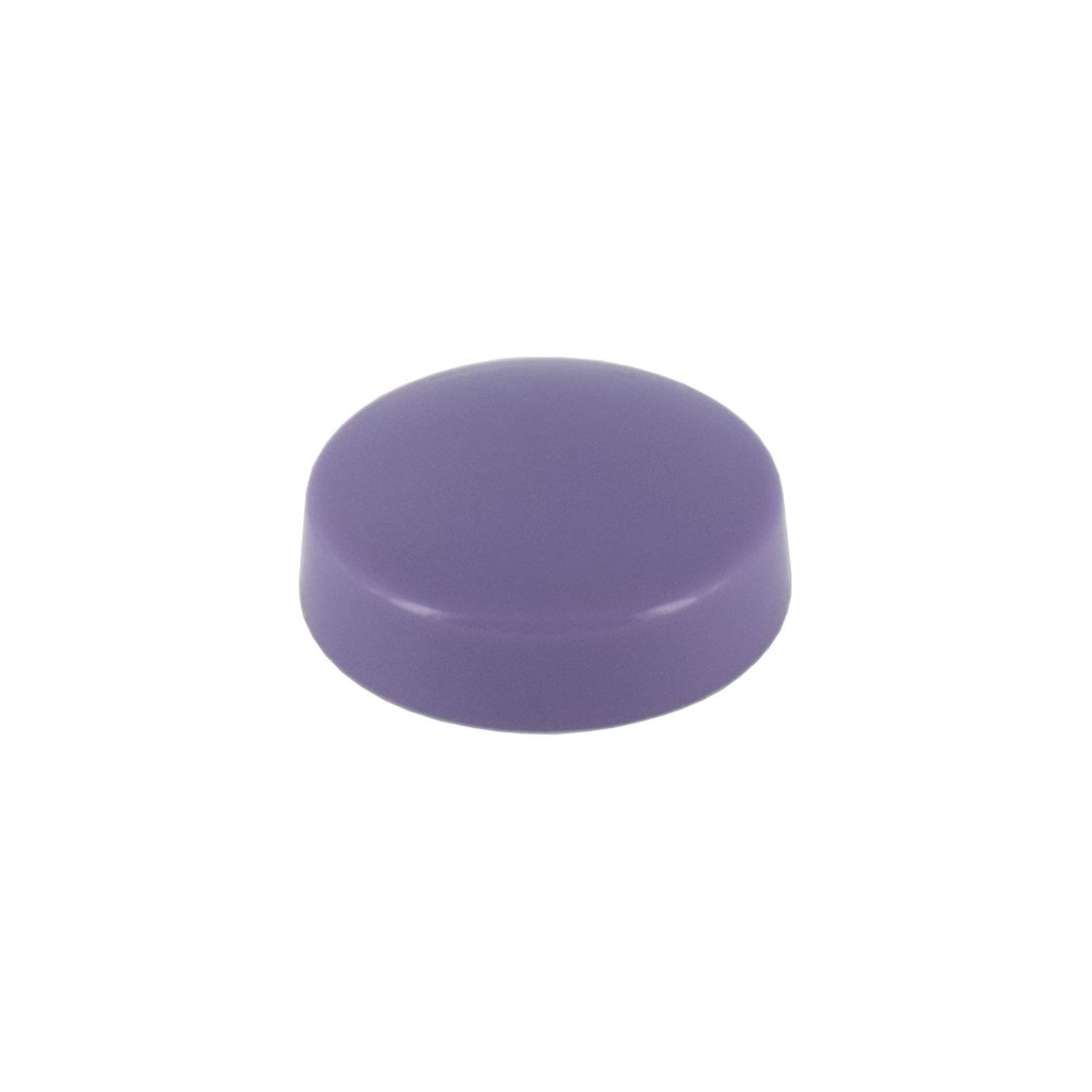 ".515"" Diameter Purple Polypropylene Pop-On Scew Cover"