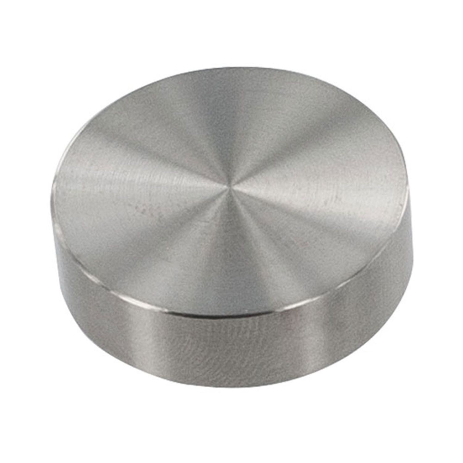 "1"" Diameter x 3/16"" High Brushed Stainless Steel Finish Eco Wall Mount Series Cap It Off Standoff"