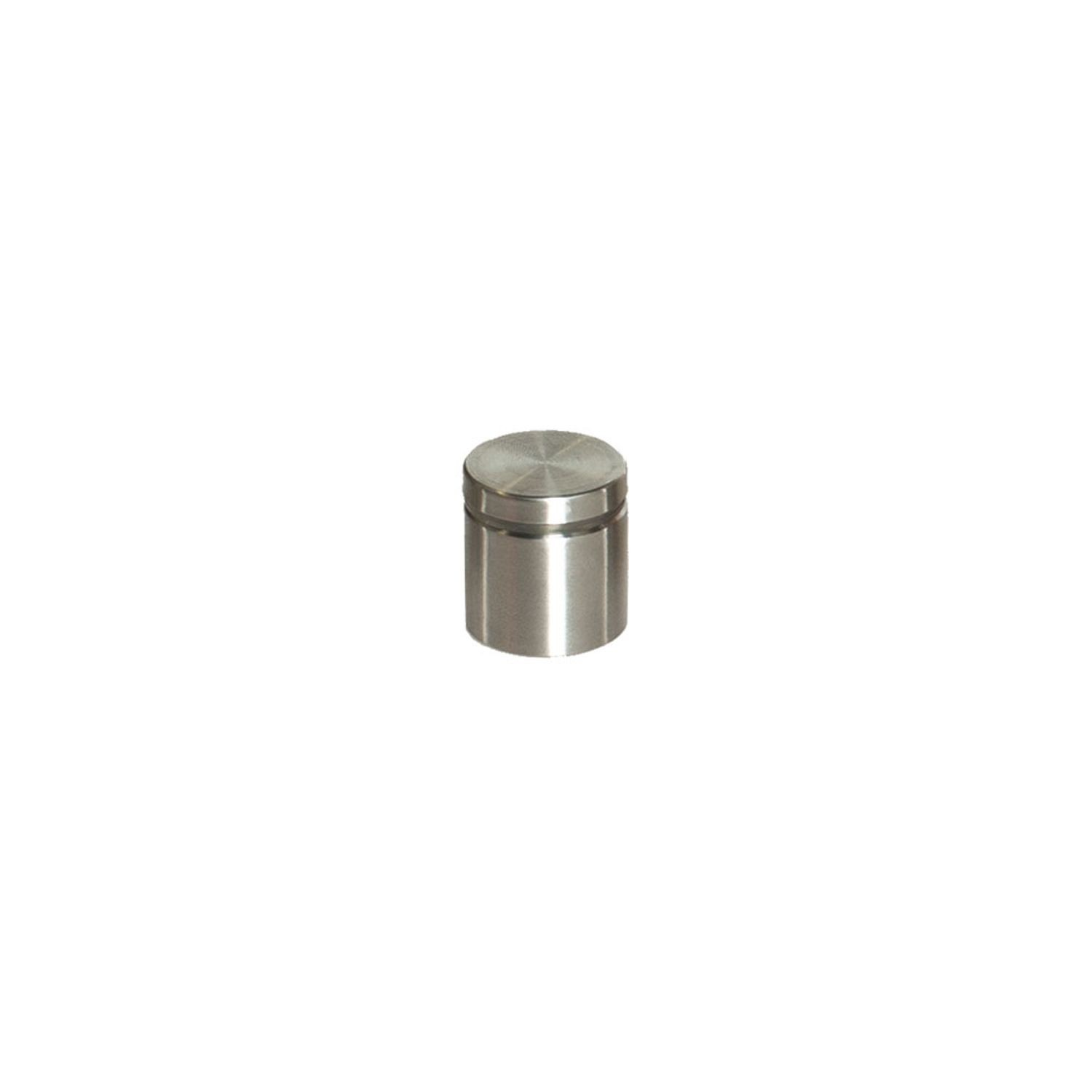 "1"" Diameter x 1"" Barrel Length Brushed Stainless Finish Eco Lite Series Easy Fasten Standoff"