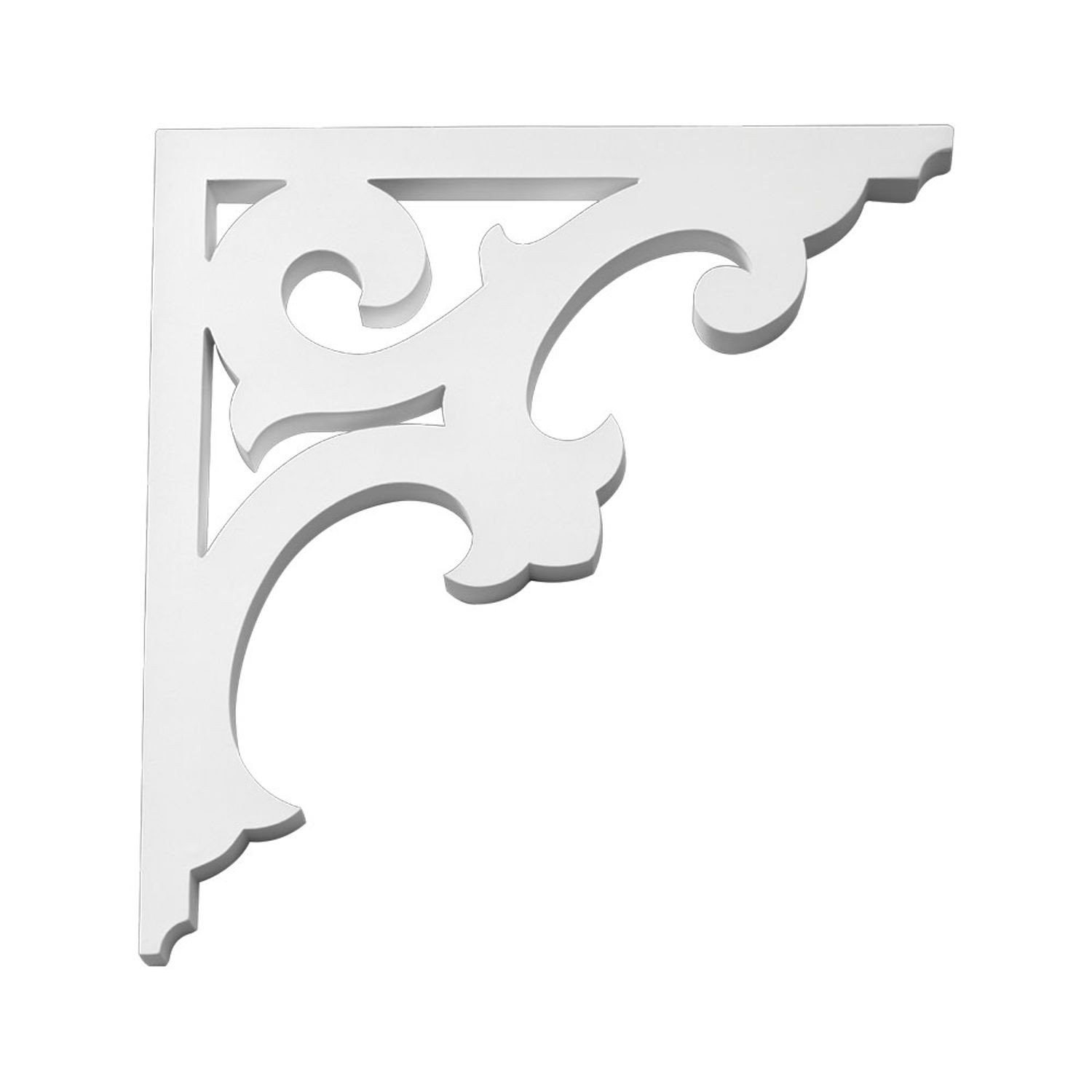 "1"" Wide x 14-5/8"" High Primed White Polyurethane Bracket"
