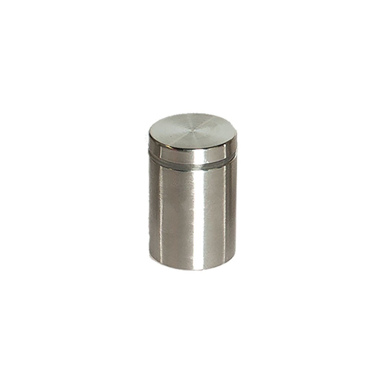 "1"" Diameter x 1-1/2"" Barrel Length Brushed Stainless Finish Eco Lock Series Tamper Proof Standoff"