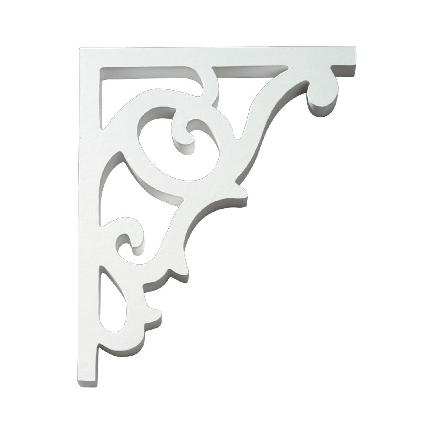 "1"" Wide x 12-1/2"" High Primed White Polyurethane Bracket"