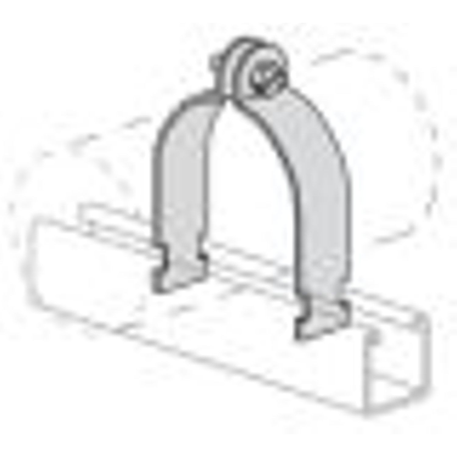 3/4 in. Hot Dipped Galvanized Steel Conduit Clamp