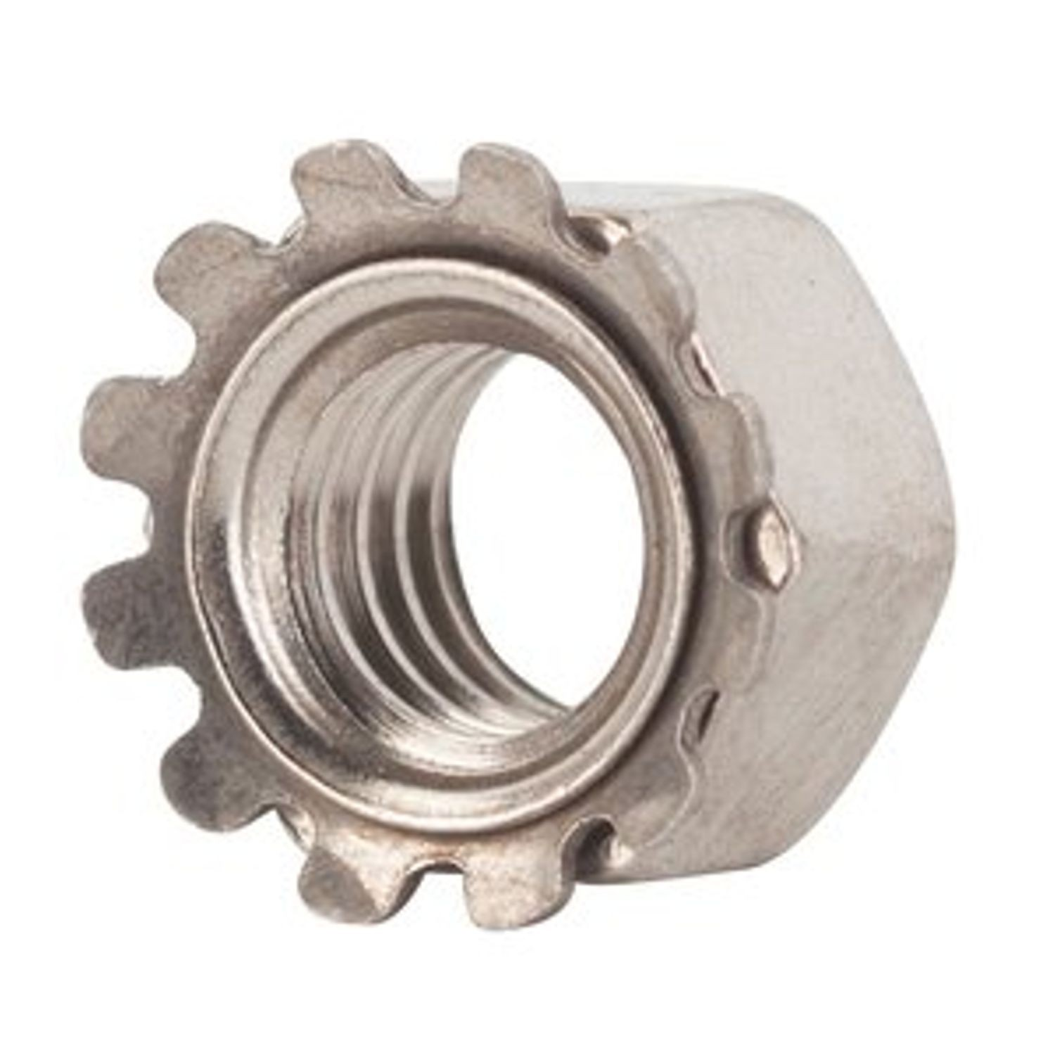 "1/4"" - 20 STAINLESS STEEL KEPS NUT"
