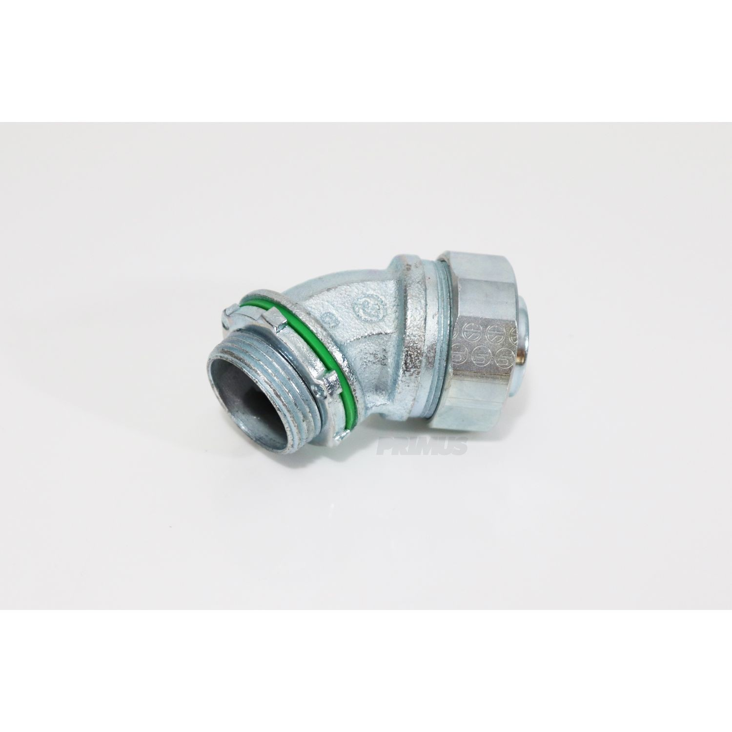 1 IN. Liquid Tight 45° Connector, Resuable Fittings