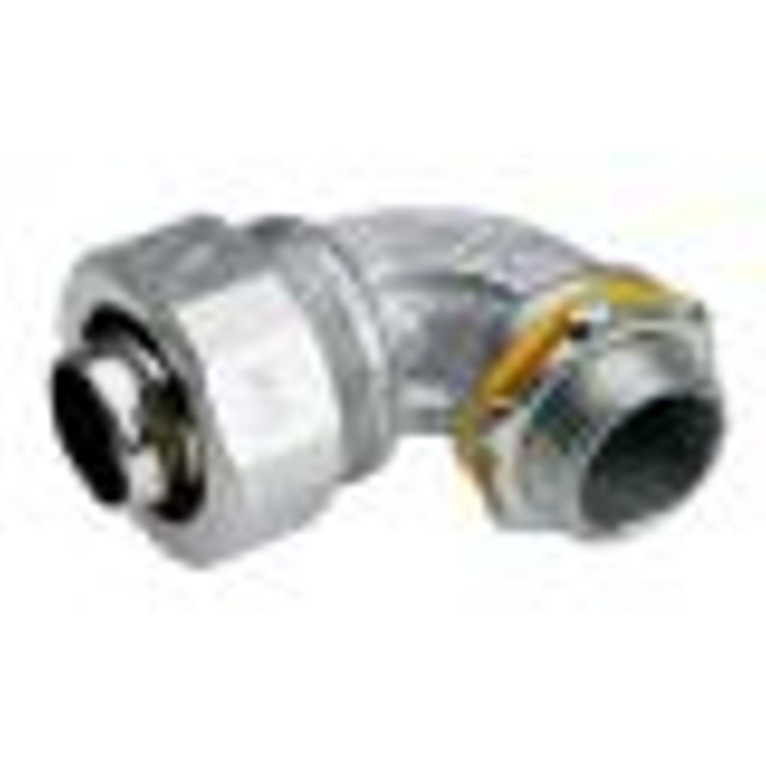 1 IN. Mallable Iron LiguidTight 90° Angle Connector, Non- Insulated