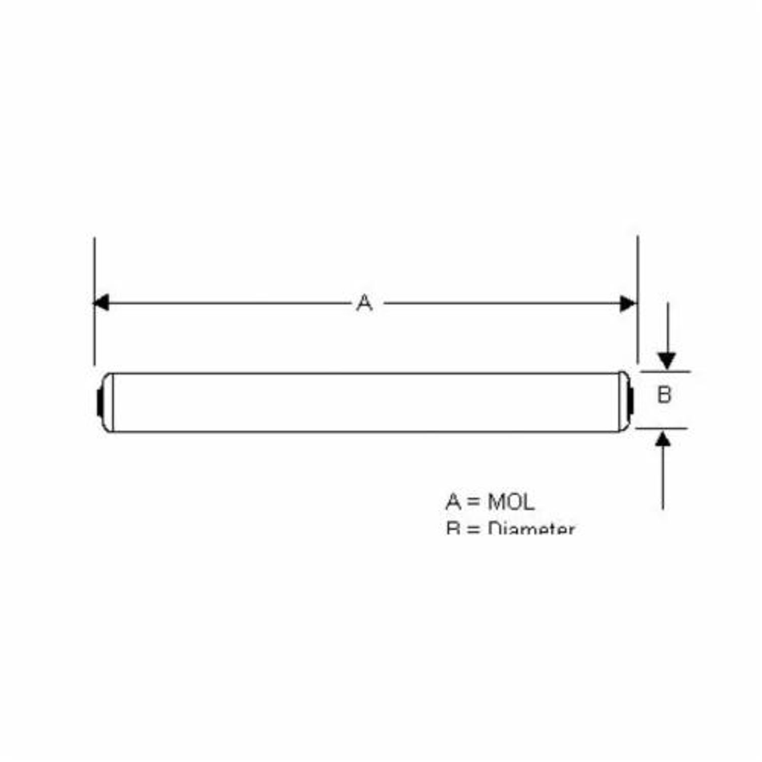 Sylvania F48t12 Cw Ho 25146 High Output Fluorescent Lamp 60 W Circuit Diagram Recessed Double Contact Linear T12 4050 Lumens