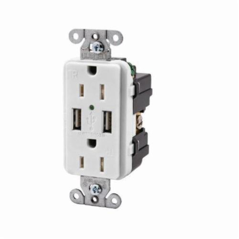 Wiring Device-Kellems USB15X2W Decorator Duplex USB Charger ...