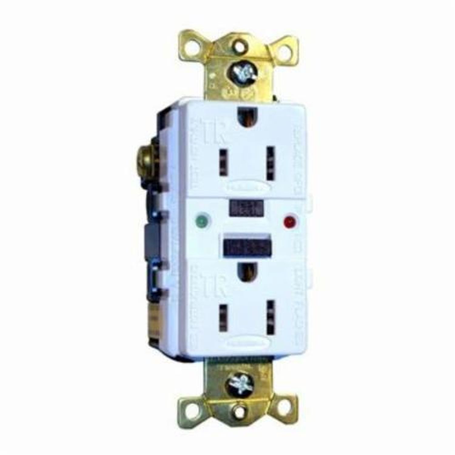 Hubbell Commercial Heavy Duty Tamper Resistant Gfci Receptacle With Wiring Receptacles Led Light 125 Vac 20 A 2 Poles 3 Wires White