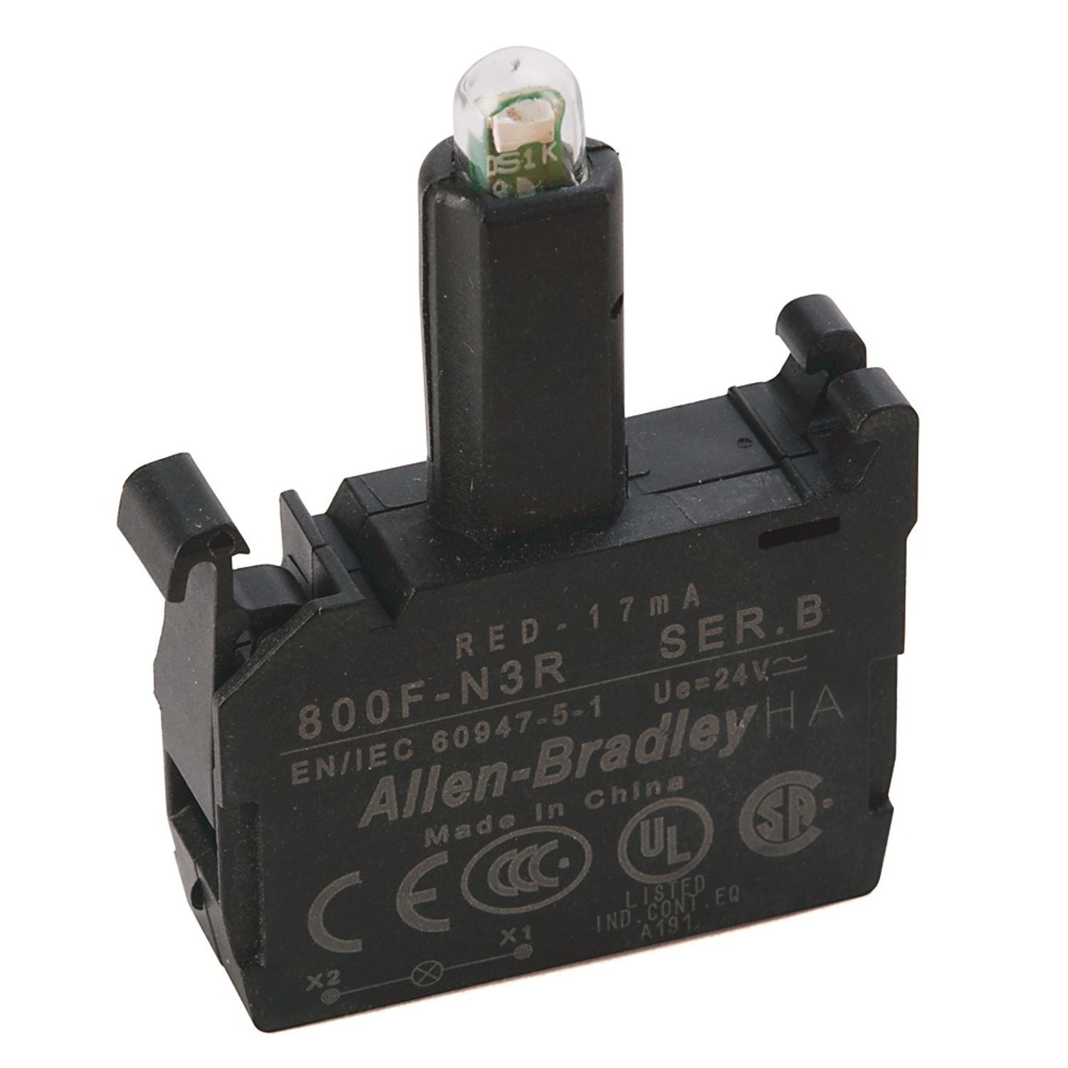 Integrated Led Latch Mount 24v Ac Dc Red Smc Electric Capacitor Circuit