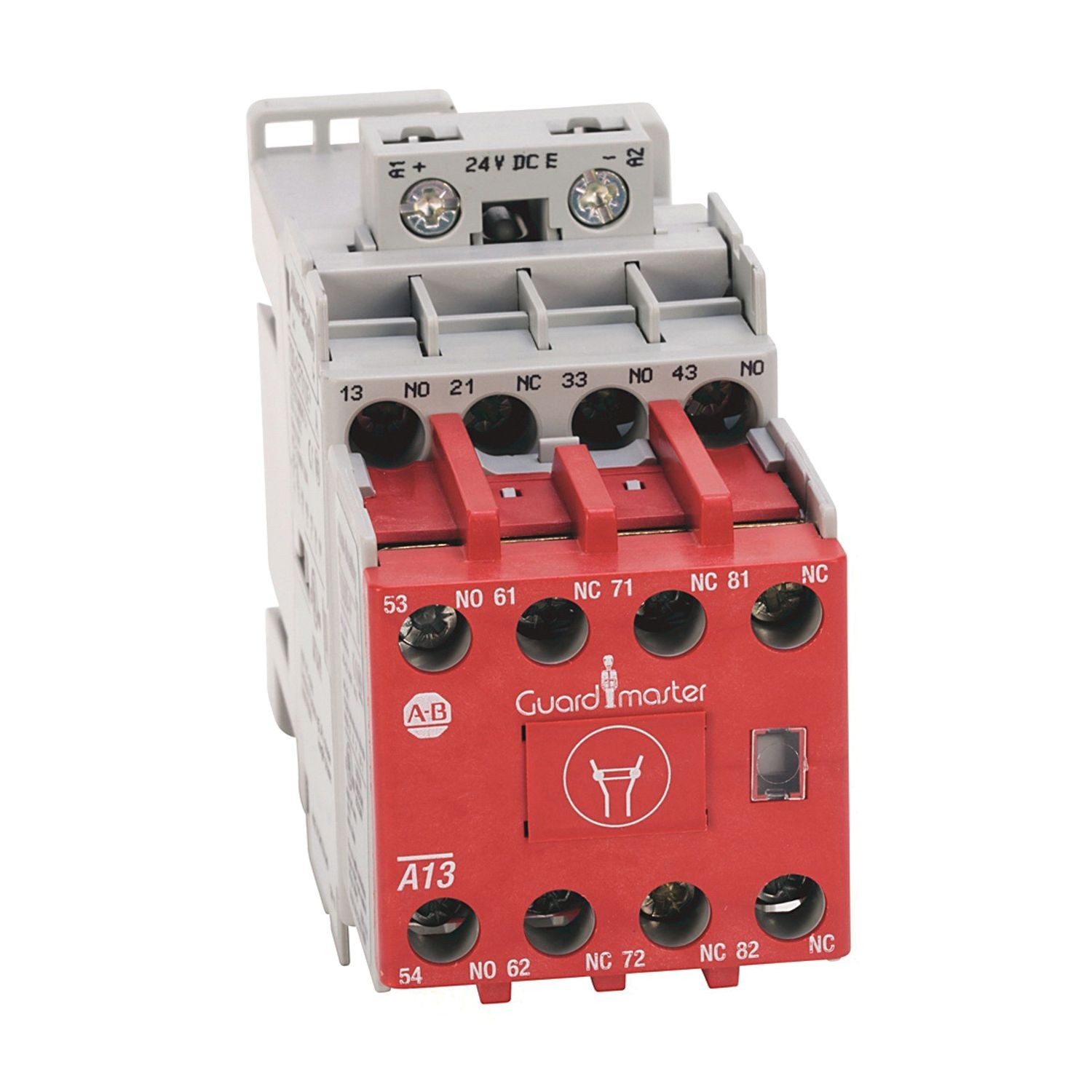 Safety Control Relay 8 Pole 3 No 1 Nc Base With And Contacts Auxiliary Bifuracated Contact 24v Dc W Elec Coil
