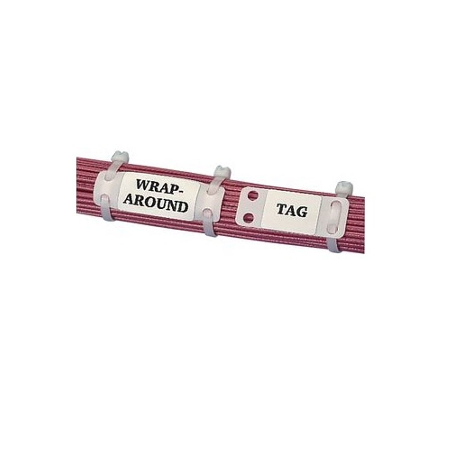 PanduitR MP150 C Loose Piece Harness Identification Marker Plate 1 2 In OAL Cable Ties Mount Nylon White