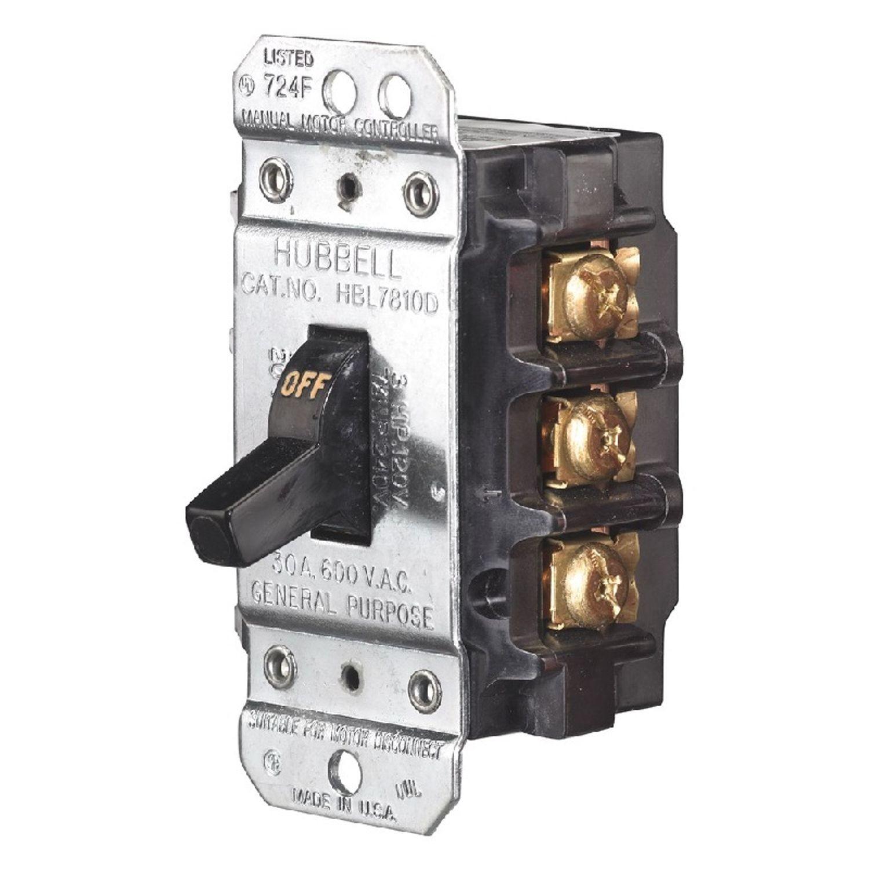 Circuit Lock, Manual Motor Controller, Toggle Switch, 3 Poles, 600 ...