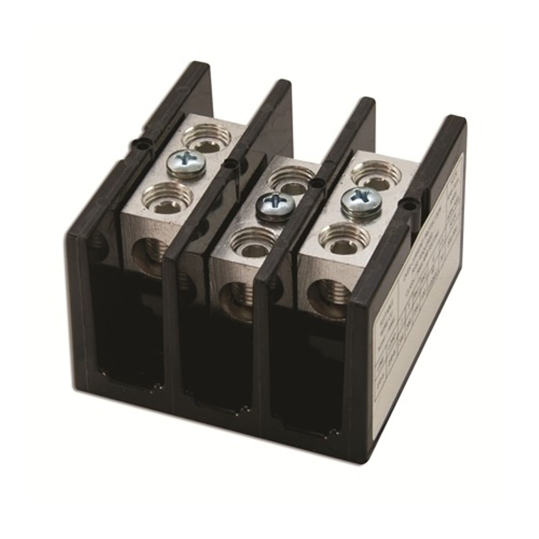 Littelfuse Powr Gard Ls2572 3 Splicer Terminal Power Distribution Wiring Block 600 Vac 175 A Poles 14 2 0 Awg Wire