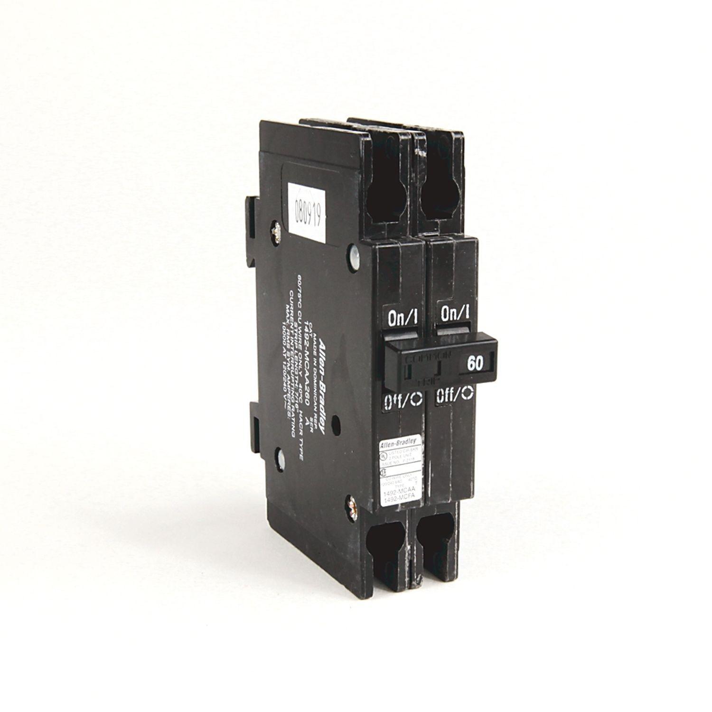 Allen Bradley 1492 Mc Circuit Breaker Miniature Breakers Images Photos 1 2 In Wide Per Pole Din Rail Mounting 10 Ka Poles 60 Amps