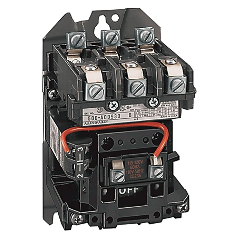 Allen Bradley 500 500dc Nema Ac Dc Contactor Motor Loads Top Wiring Size 8 115 120v 60hz Open 3 Power Poles 1215 110 50 60 Hz