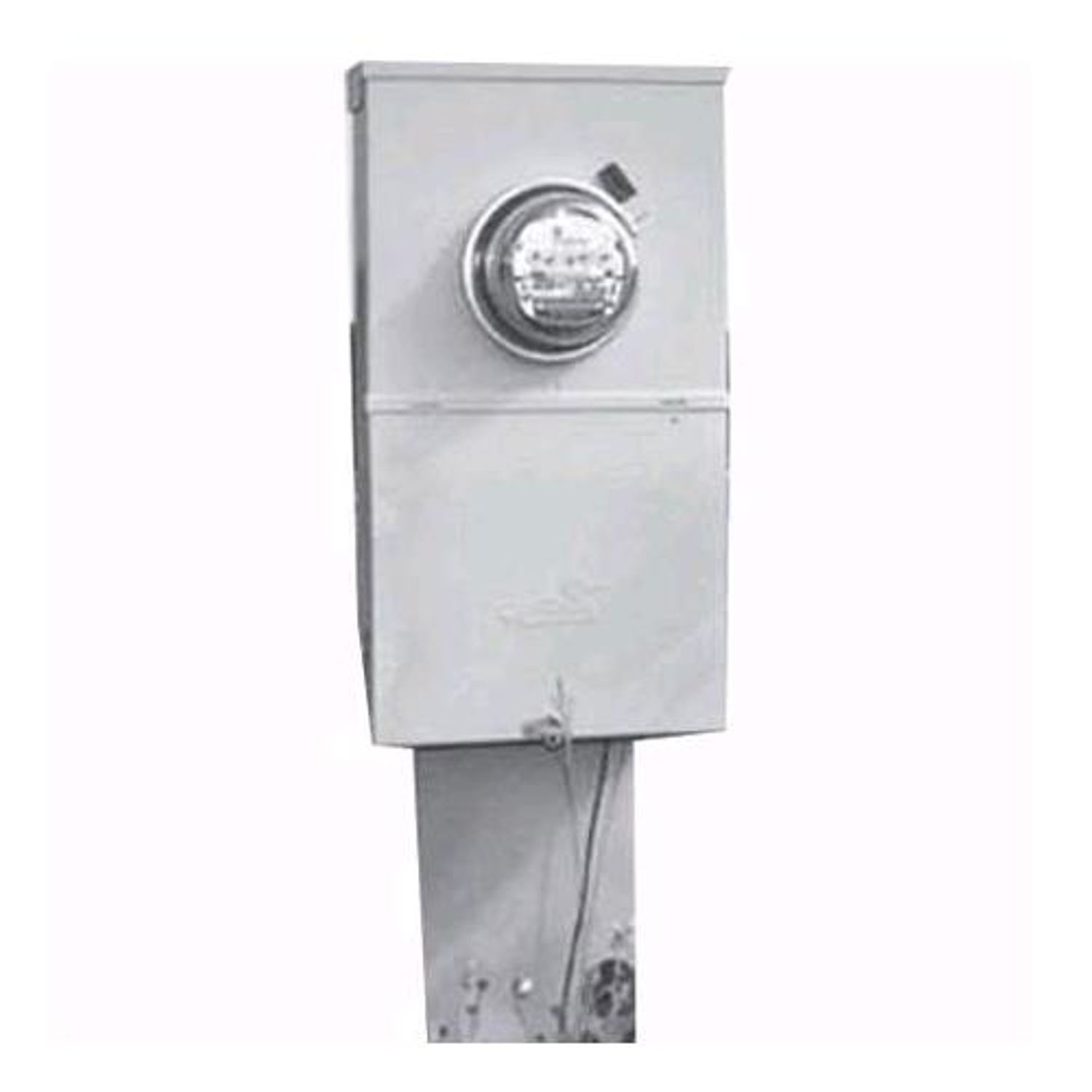Midwest® M281C1P6H Ring Metered Power Outlet Pedestal, 120/240 VAC ...