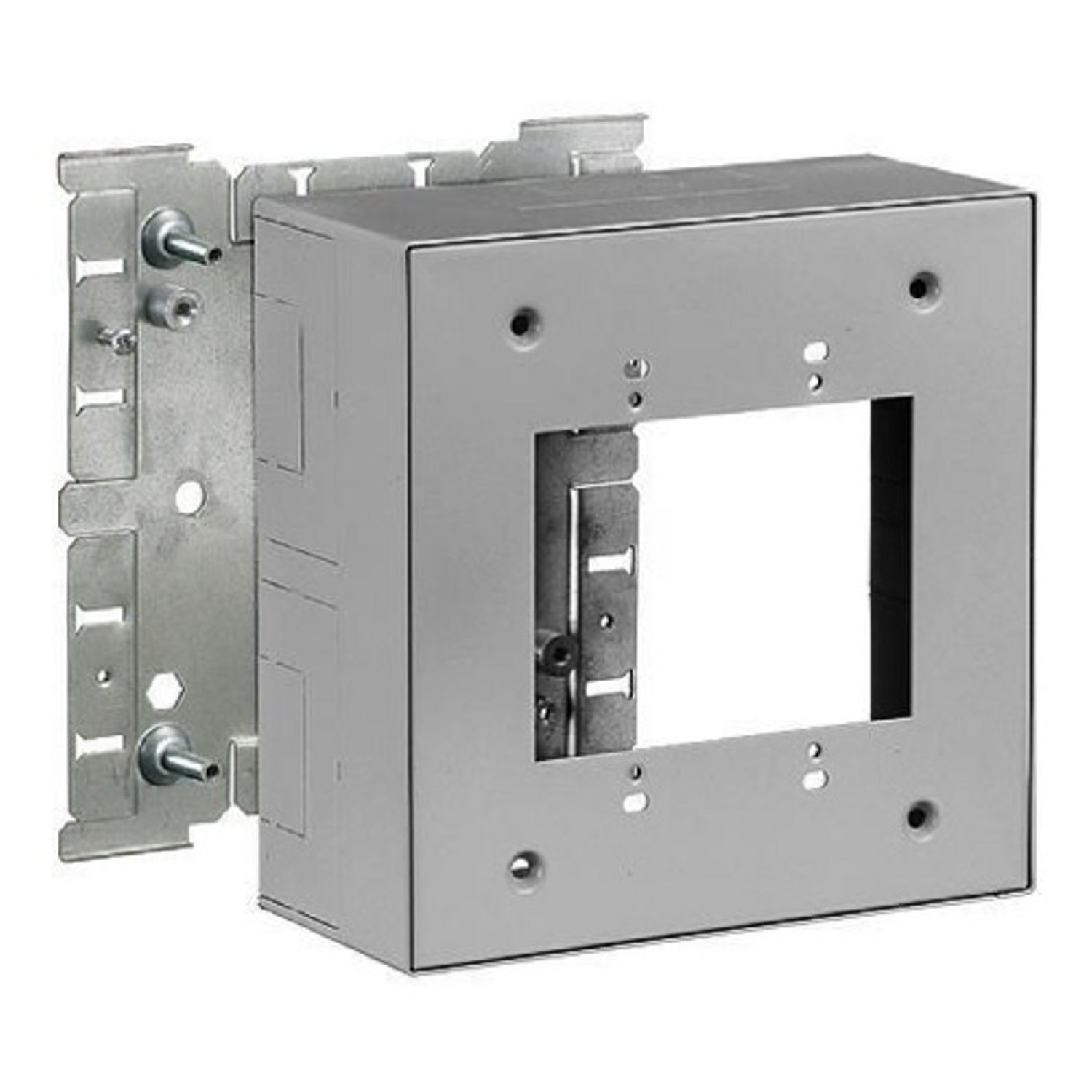 Wiring Device Kellems Hbl3000 2 Gang Extra Deep Switch And 4 Receptacle Box 638 In L X W 3 H Steel