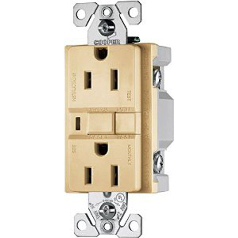 Cooper Wiring Arrow Hart Vgf15v M Decorator Gfci Duplex Receptacle 125 Vac 15 A 2 Poles 3 Wires Ivory