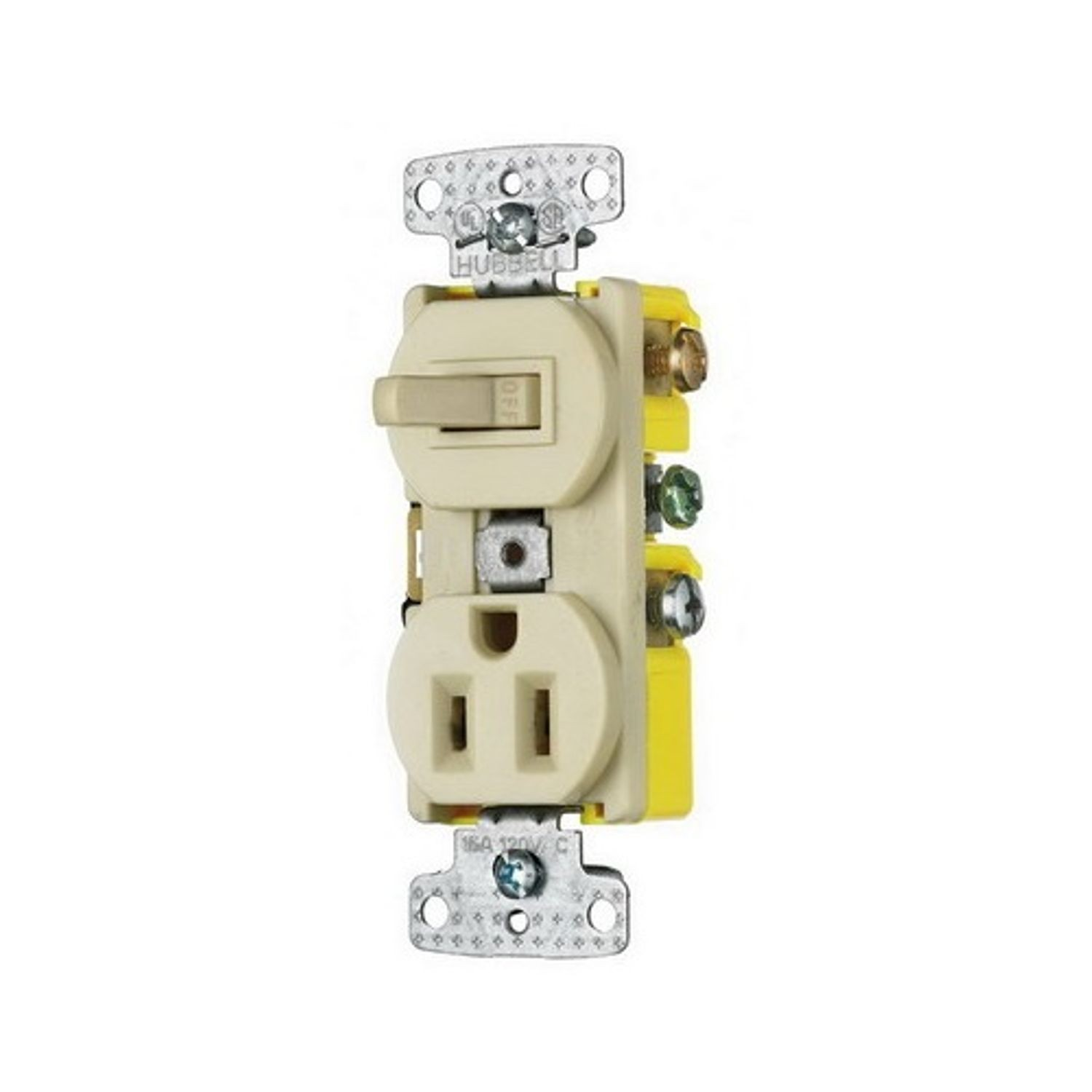 Wiring Device Kellems Tradeselect Traditional Combination Switch Receptacle And 15 A At 120 125 Vac 1 Poles 3