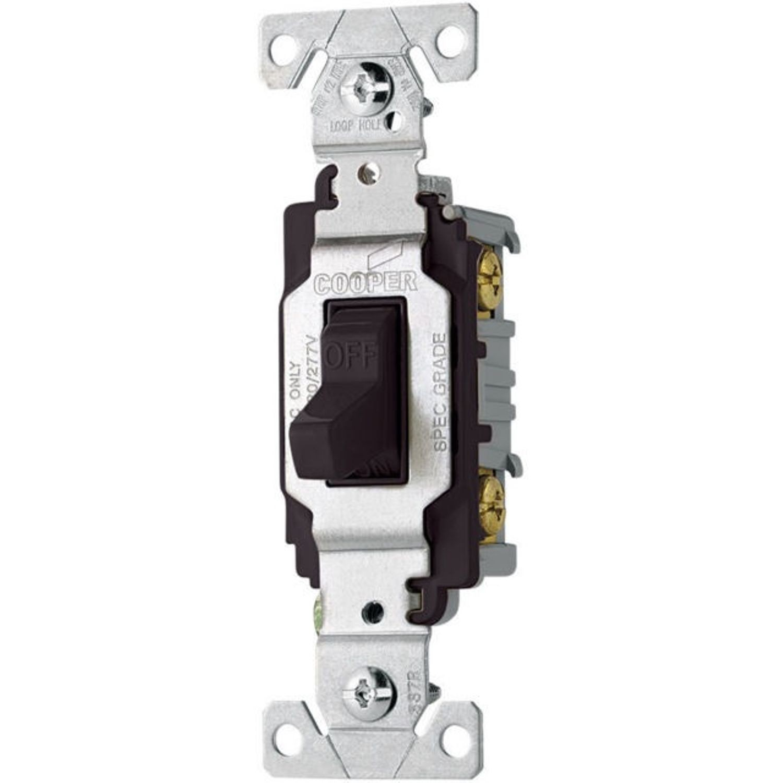 Cooper Wiring Arrow Hart Cs120bk Toggle Switch 120 277 Vac 20 A 277vac 1 Hp 2