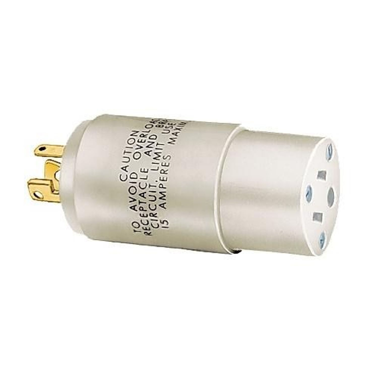Wiring Device Kellems Twist Lock 9053a 1 Phase 2 Pole 3 Wire Fluorescent Lights To A Plug Grounding Standard In Adapter 125 Vac 1875 W 15 Straight Female Slot End