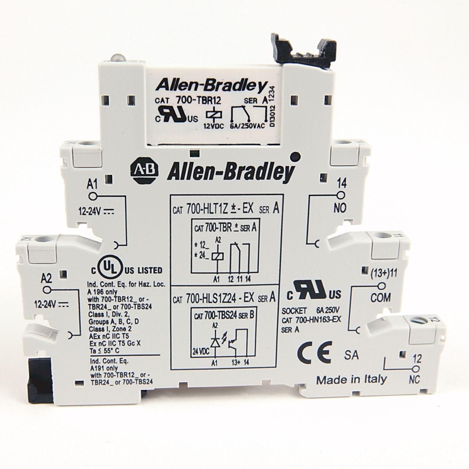 Allen Bradley 700 Hl Electromechanical Relay Output Spdt 1 C O 12v 5a W Screw Terminals Dc Touch Safe Terminal Construction