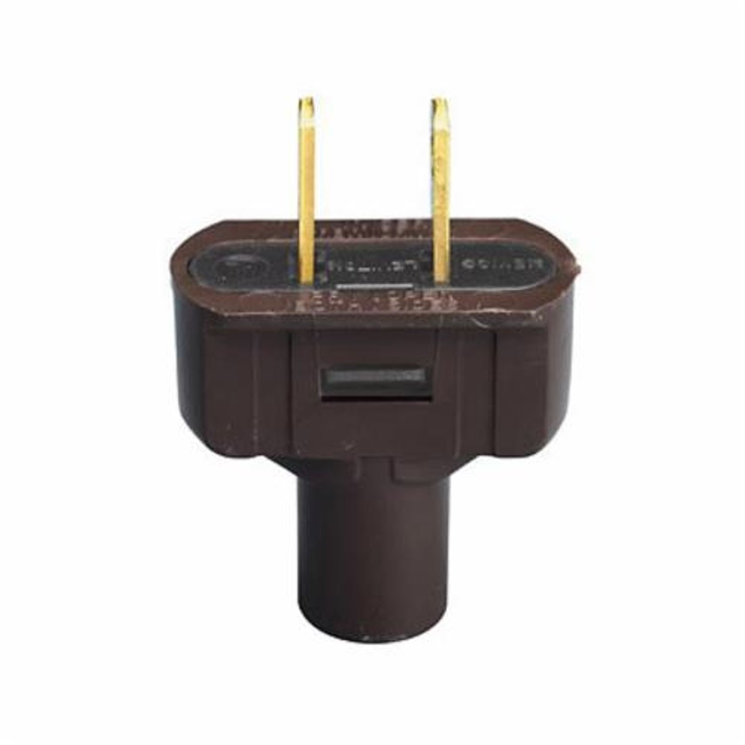 Leviton 48643 Cable Mount Non Grounding Polarized Short Flat Wiring A Plug Vinyl 125 Vac 15 2 Poles Wires Brown
