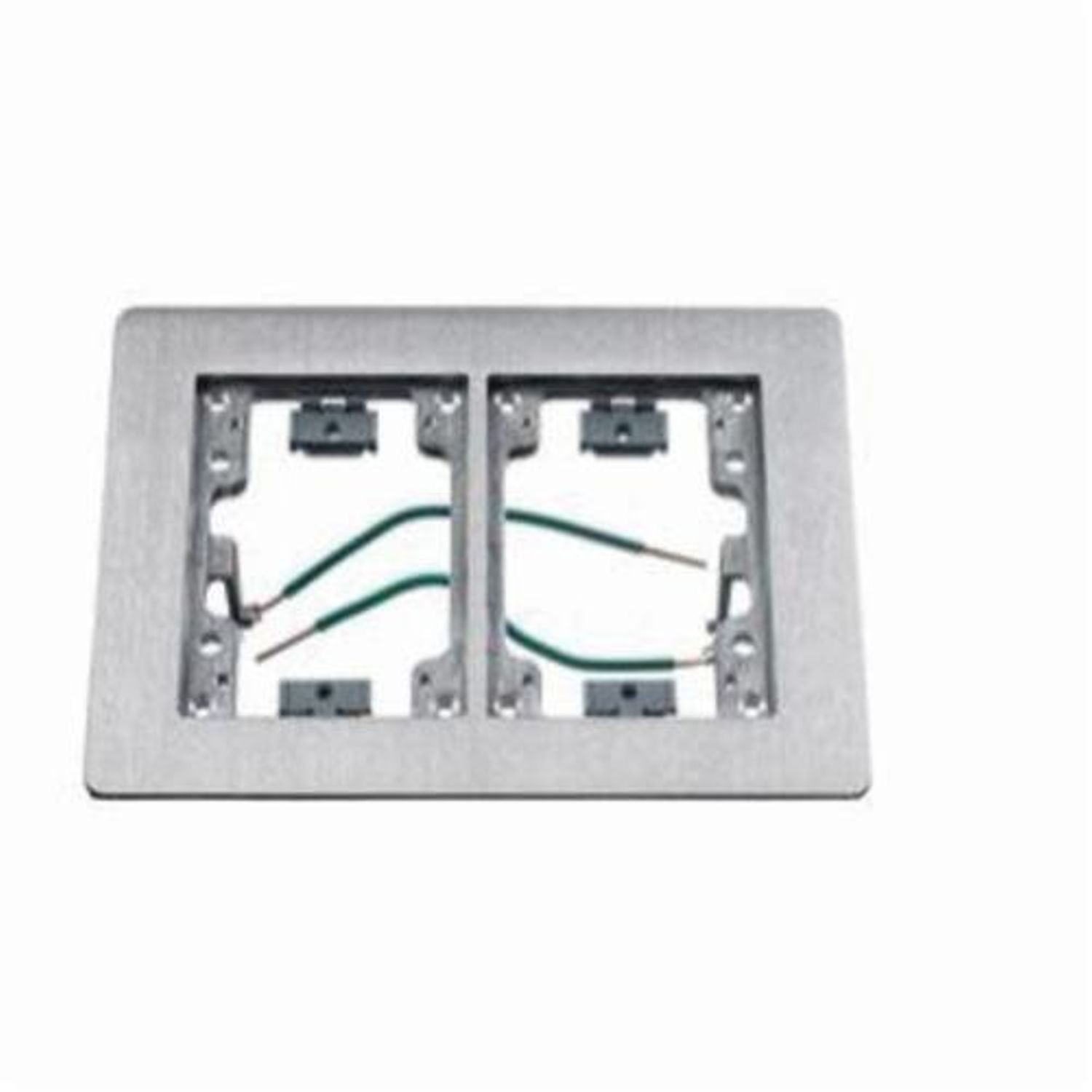 Premise Wiring Sa3084w Rectangular Floor Flange For Use With Flush Box Aluminum