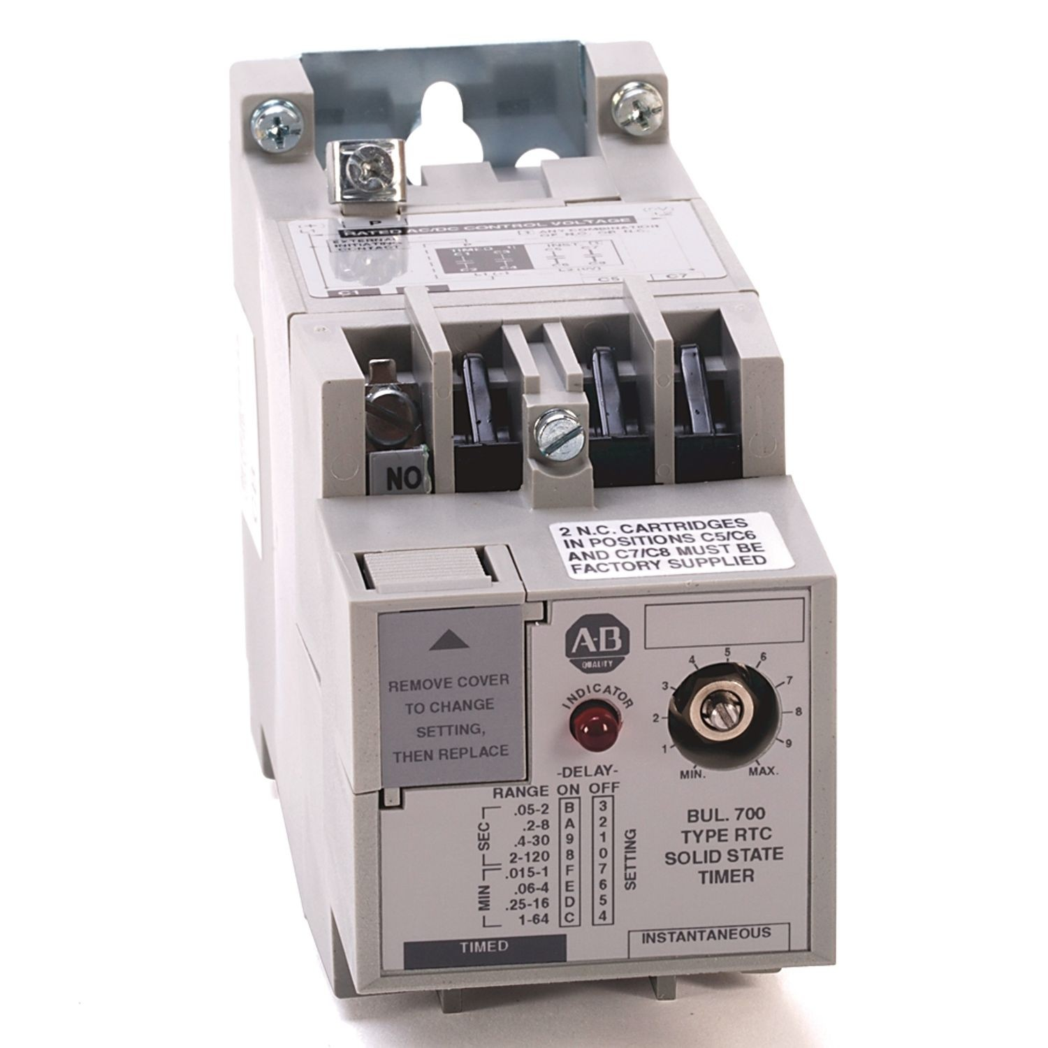 Allen Bradley 700 Rtc Industrial Solid State Timing Relay No Ac Potentiometer Wiring Adjustable Time Open 120v Dc 110 50 60hz