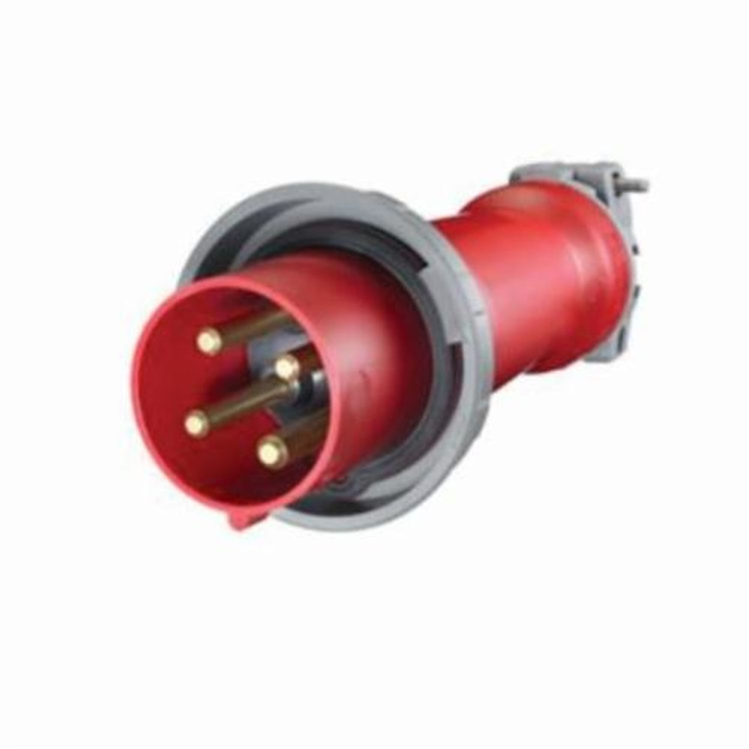 Wiring Device Kellems Hbl4100p7w 3 Phase Watertight Iec Pin And 4 Wire Sleeve Plug 480 Vac 100 A Poles Wires Red