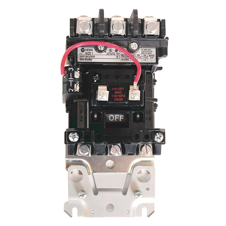 Allen Bradley 500 500dc Nema Ac Dc Contactor Motor Loads Top Wiring Size 4 115 120v 60hz Open 3 Power Poles 135 110 50 60 Hz