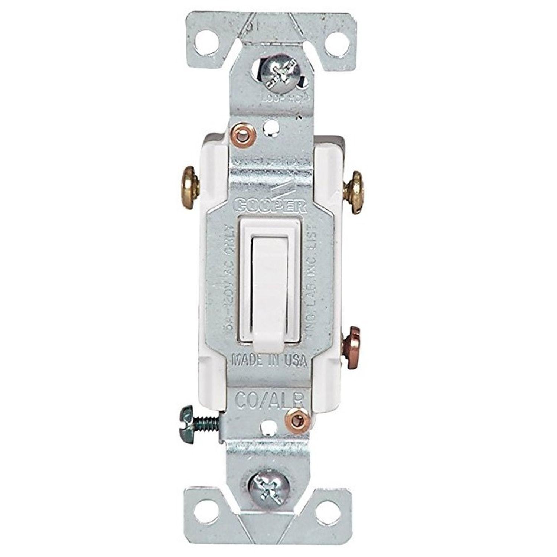 Cooper Wiring Arrow Hart 5223 7w Bu 3 Way Toggle Switch 120 Vac Three 15 A 1 2 Hp