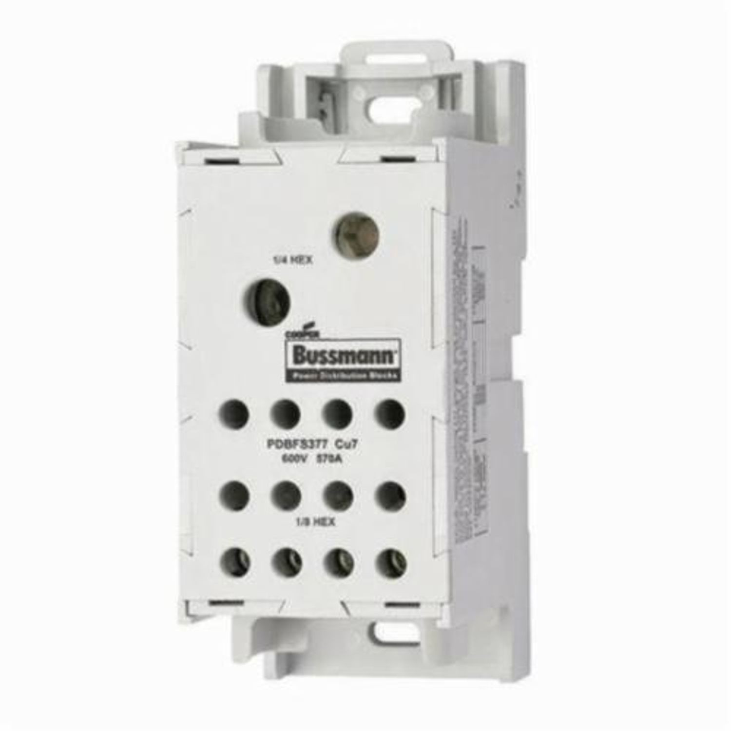 Bussmann Pdbfs 330 Finger Safe Power Distribution Block 600 Vac Wiring 380 A 1 Poles 6 Awg To 500 Kcmil Wire