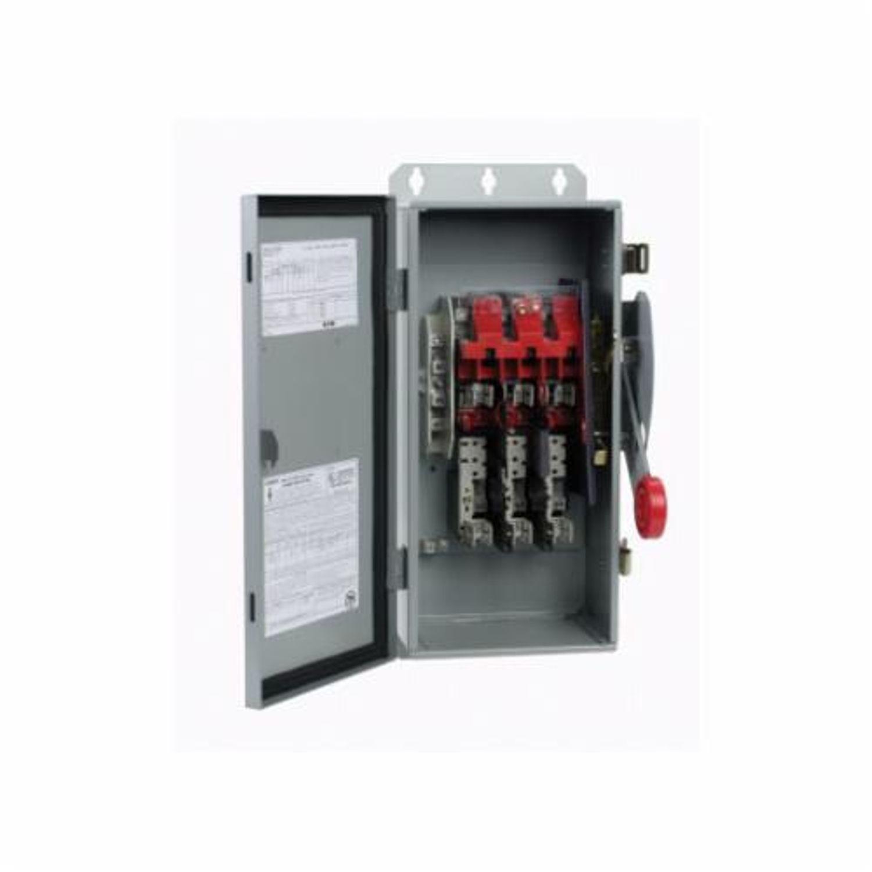 Cutler-Hammer DH Heavy Duty Safety Switch, 600 VAC, 50/150 hp, 200 A ...