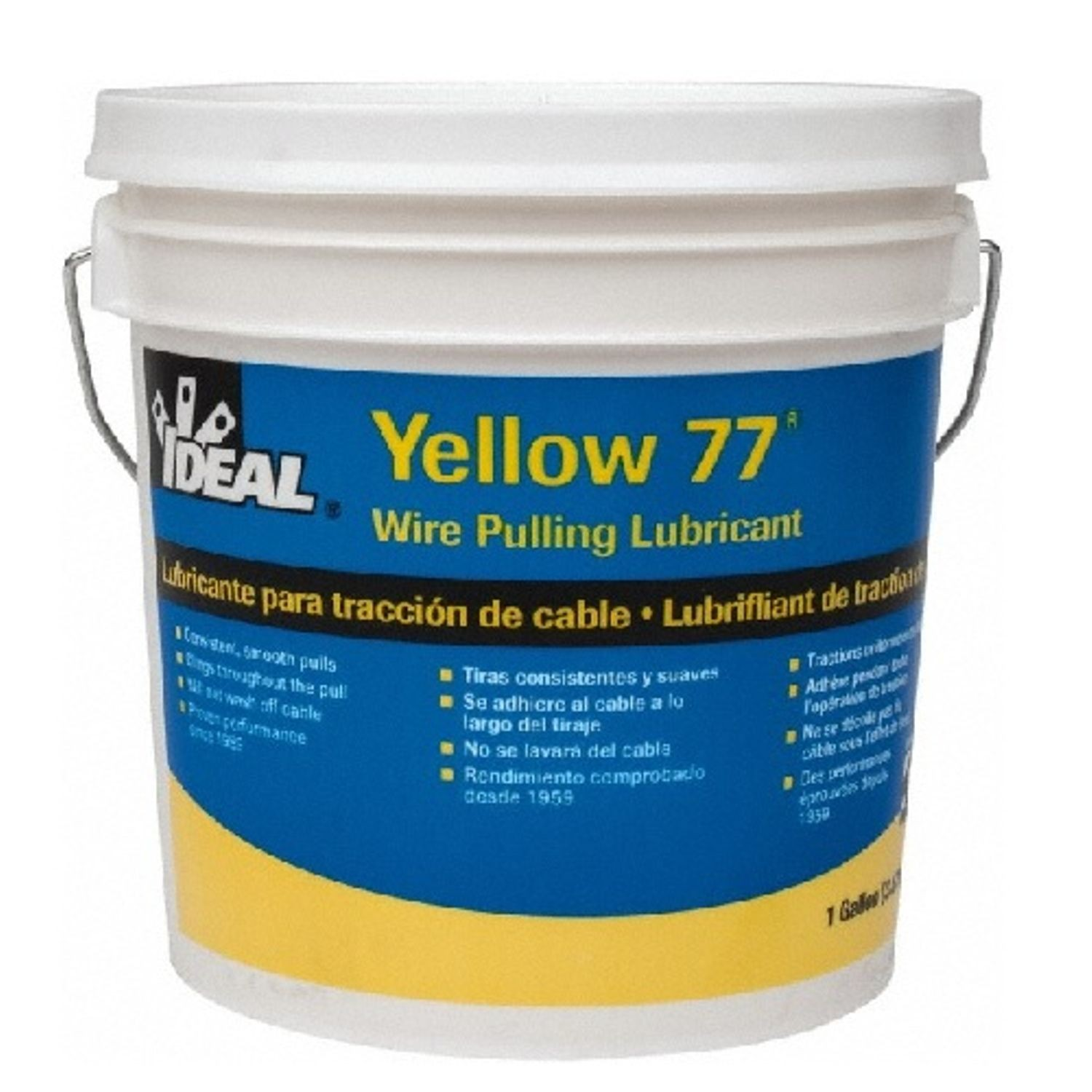 IDEAL® Yellow 77® 31-351 Wire Pulling Lubricant, 1 gal Pail, Paste ...
