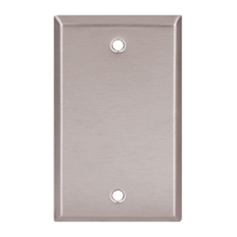 Cooper Wiring Arrow Hart 93151-BOX Standard Blank Wall Plate, 1 Gang ...