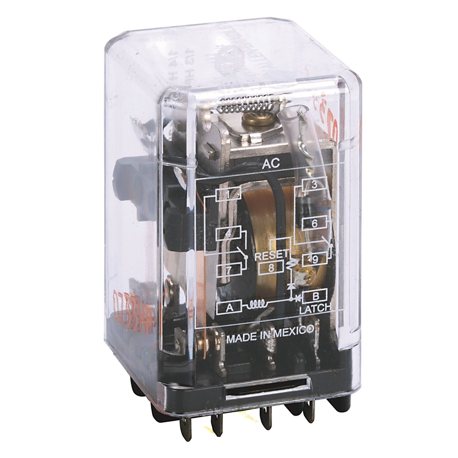 Allen Bradley 700 Hj General Purpose Magnetic Latching Relay 10 Dpdt Bistable Amp Contact 24v Dc