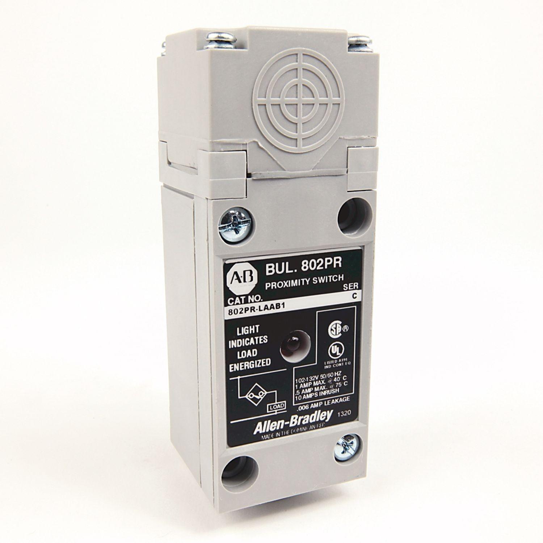Allen Bradley 802pr Laab1 Proximity Sensor 2 Wire Ac High Output Thread Wiring 14mm Sensing Distance Side Shielded No Conduit5 In Npt Threads