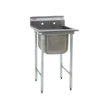 "Eagle 314-16-1-18L-X 314 Series Sink, one compartment, 38-7/8""W x 27-1/2""D, 304 stainless steel construction, 16"" wide x 20"" front-to-back x 13-1/2"""